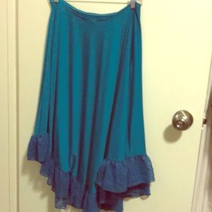 Betsy Johnson swim cover up in teal size m